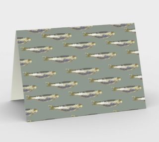 Anchovies Group Print Pattern Stationery preview