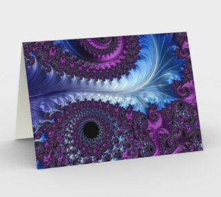 Feathery Flow Greeting Card preview