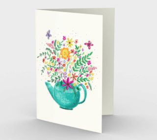Flower Teapot Card preview