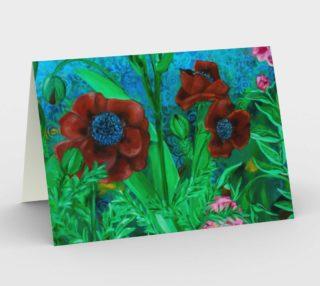 Aperçu de Garden Poppies Card