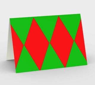 Christmas Harlequin Diamond Pyramid Card preview
