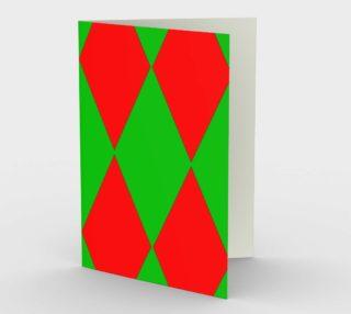 Christmas Harlequin Diamond Card preview