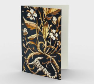 Decorative Floral Stationary Card preview