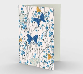 Wildflowers and Butterflies Blank Card preview