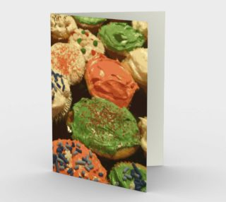 Christmas Cupcakes With Sprinkles Stationery Card preview