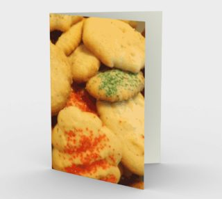 Christmas Cookies With Sugar Sprinkles Stationery Card preview