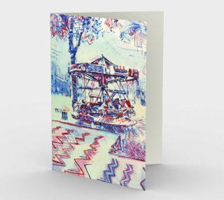 Luna Park Party Invitation (blank set of 3 w/envelopes) preview