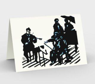 Chamber Jazz Invitation ( 3 blanks w/3 envelopes) preview