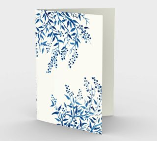 Blue Branches Watercolor Stationery Card preview