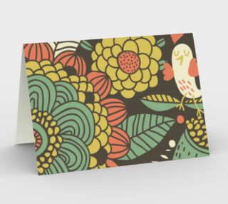 Retro Flowers with Birds preview