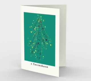 O Tannenbaum Stationery Card preview