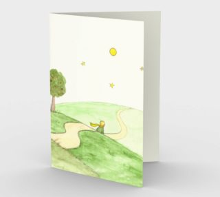 The little prince and the fox Stationery Card preview