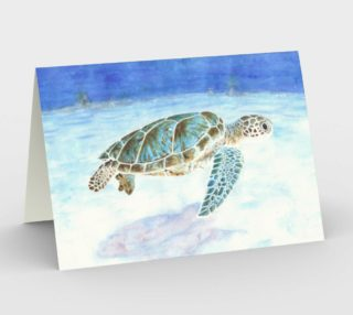 Sea turtle underwater Stationery Card preview