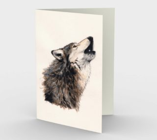 Grey wolf Stationery Card preview