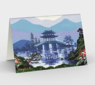 Japanese landscape Stationery Card preview