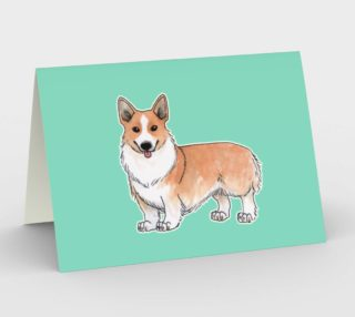 Welsh corgi dog Stationery Card aperçu