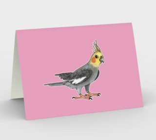 Cockatiel bird Stationery Card preview