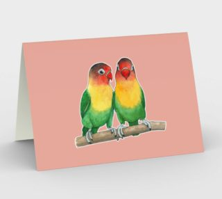 Fischer's lovebirds Stationery Card preview