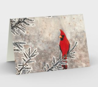 The red cardinal in winter Stationery Card aperçu