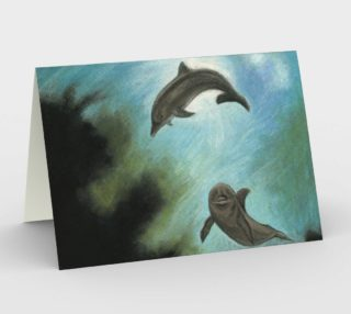 Dolphins underwater Stationery Card preview