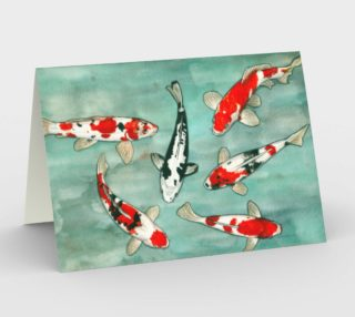 Le ballet des carpes koï Stationery Card preview