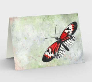 Piano key butterfly Stationery Card preview