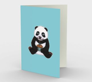 Baby panda's birthday Stationery Card preview