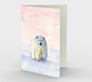 Polar bear in the icy dawn Stationery Card preview