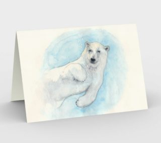 Polar bear underwater Stationery Card preview