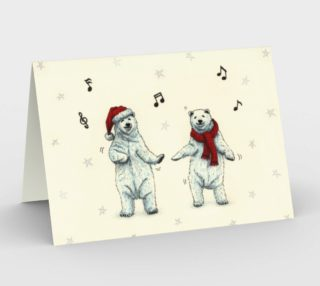 The polar bears wish you a Merry Christmas Stationery Card preview