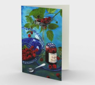 Still life with raspberries Stationery Card preview