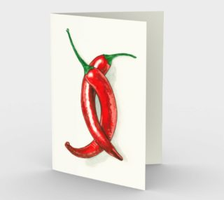 Hot peppers Stationery Card preview
