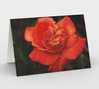 Coral rose flower Stationery Card preview