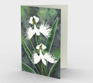 White egret orchids flowers Stationery Card preview