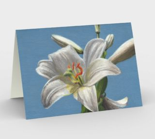 White lily flower Stationery Card preview