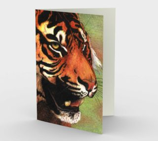 Tiger mouth Stationery Card preview