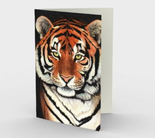 Tiger portrait Stationery Card preview