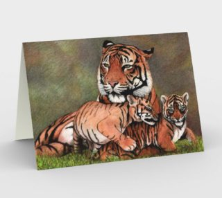 Family tigers Stationery Card preview