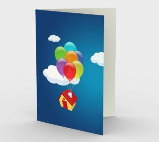 Aperçu de Balloon House Moving New Address Announcement