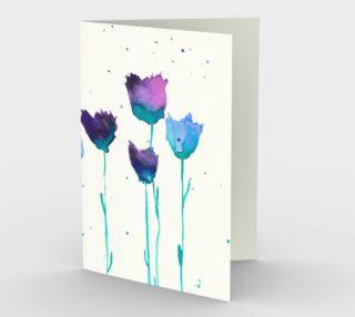 Aperçu de Cartes - Fleues bleues