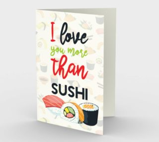 I love you more than sushi preview