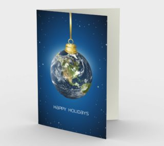 Aperçu de Earth Globe Christmas Card