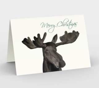 Merry Christmas Moose Card  preview