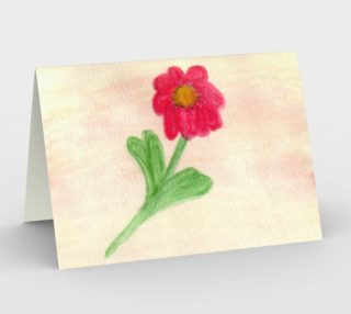 Red Daisy Card preview