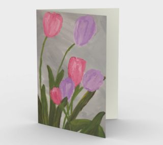 Pink and Purple Tulips Card preview