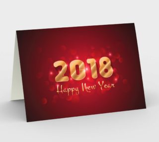 Happy New Year 2018 Greeting Card Design preview