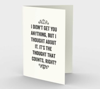 Thought That Counts Birthday Card - Snarky Card Set of 3 preview