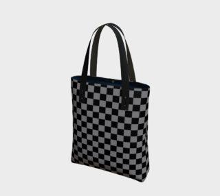 Aperçu de Black and Medium Grey Checkerboard