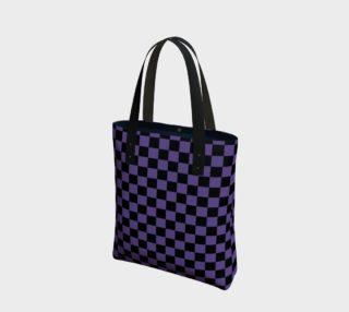 Aperçu de Black and Ultra Violet Purple Checkerboard