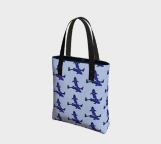 Astrological sign Pisces constellation pattern Tote Bag preview